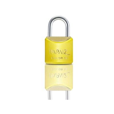 Cadeado com Chave 30mm Latão Amarelo Color Line Papaiz