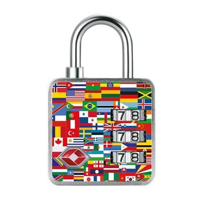 Cadeado com Segredo de 35mm Nações TSA 3 Dígitos Papaiz