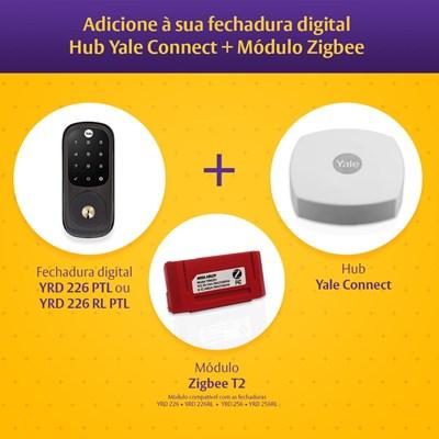 COMBO Fechadura Digital YRD 226 RL Petróleo, Abre Com Senha E Chave - Trinco Rolete