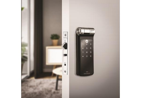 Fechadura Digital YDF 40 BP para Porta de Correr - com Biometria e Senha