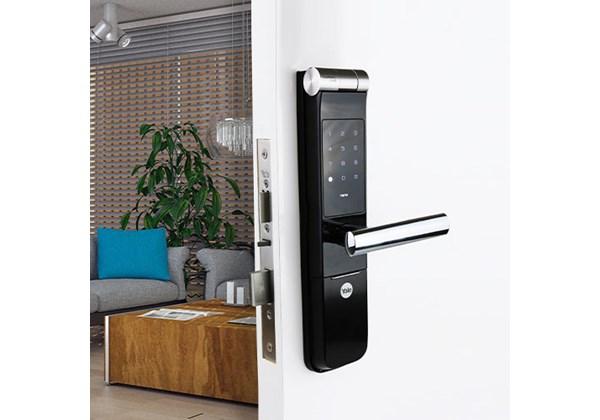 Fechadura Digital YMF 40 abre com Biometria e Senha - Trinco Lingueta e Reversível