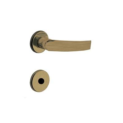 Fechadura para Porta de Banheiro Antique 40mm com Roseta MZ950 Design Papaiz